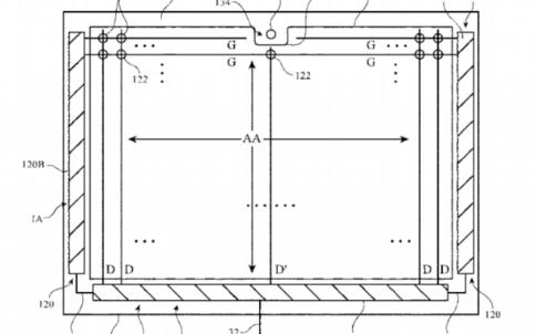 苹果带有横向刘海屏的iPad新专利