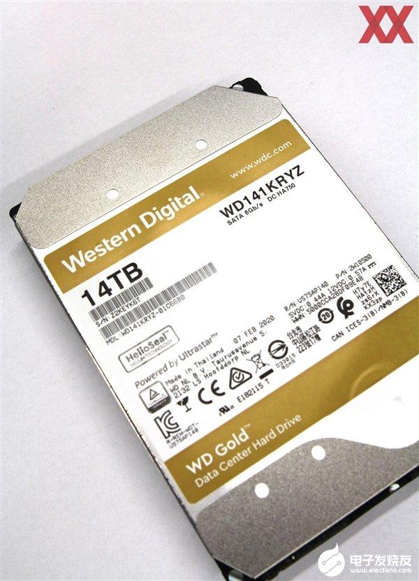 西數Gold 14TB硬盤實測 讀取速度約為(wei)267.5MB/s