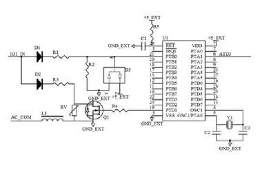 两列开关量信号采集电路图解析