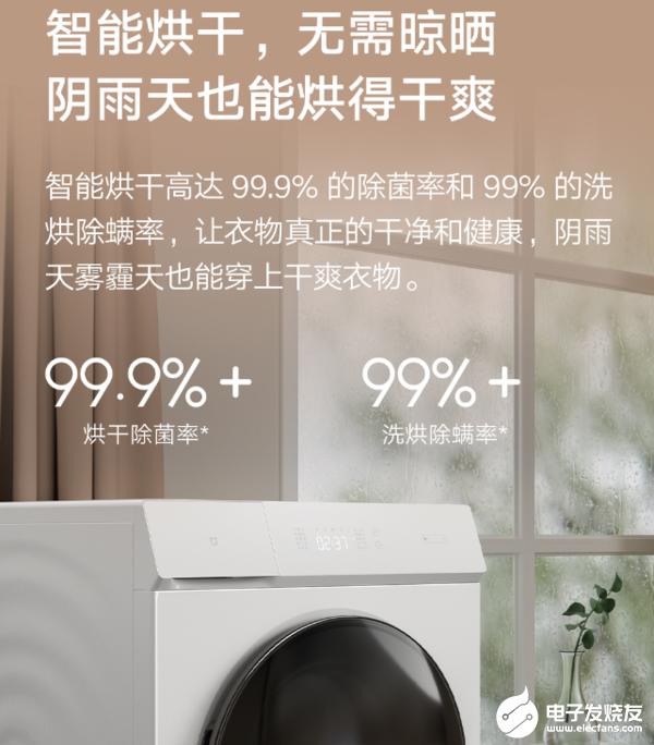 小米即将推出一款可支持智能语音控制功能的米家互联网洗烘一体机1C