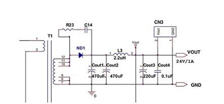 輸出整流二極管(guan)的常數計算