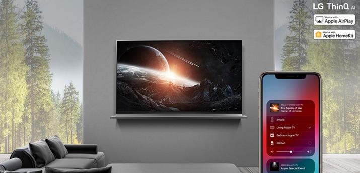 LG部分旧款电视会支持增加AirPlay 2和HomeKit功能