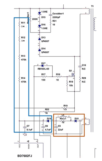 電源IC的VCC引腳相關的元器件常數