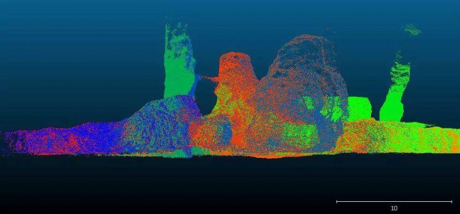3D扫描仪整个采矿系统进行全面激光扫描调查激光扫...