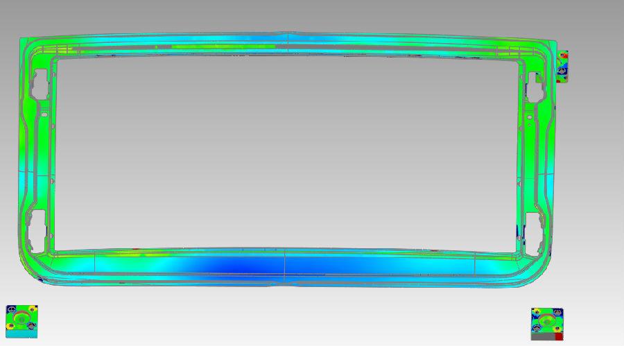 南京宁瑞计量汽车门框钣金件对比检测手持3D激光扫...