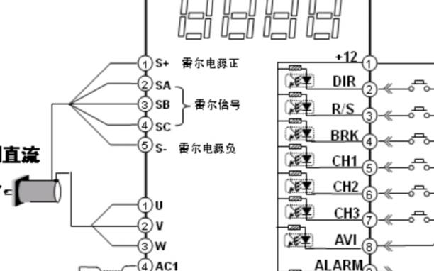 直流无刷电机接线图说明