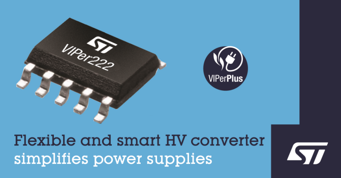 STMicroelectronics introduces flexible and robust VIPer® controller