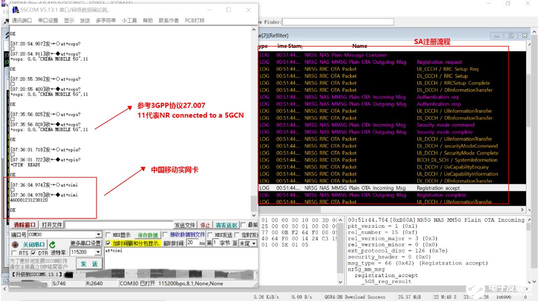 广和通FG150/FM150 5G系列模组在运营商SA实网环境下完成驻网