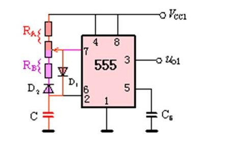 555定时器振荡电路的PCB和原理图免费下载