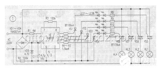 基于SH803制作的大功率彩灯程控器