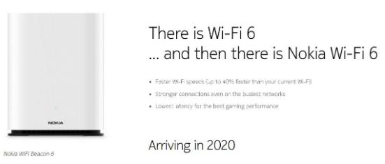 諾基亞推出了一個全新的Wi-Fi 6產品Beacon 6