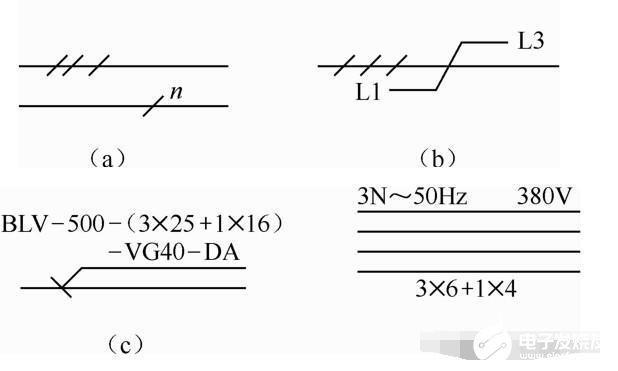电气图连接线的表示方法