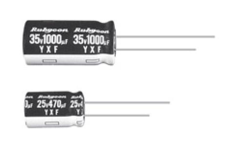 YXF系列小型铝电解电容器的数据手册免费下载