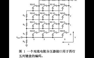 采用带ADC的微控制器实现双线矩阵式键盘接口设计