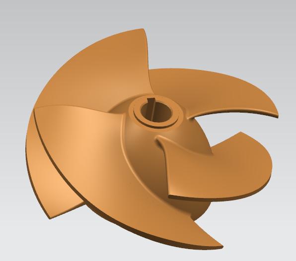 水泵叶轮泵阀叶轮逆向三维抄数逆向造型设计手持式三...