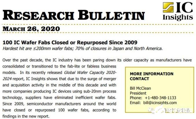 疫情将会加速晶圆工厂淘汰速度,≤200mm的8寸晶圆厂受冲击最严重