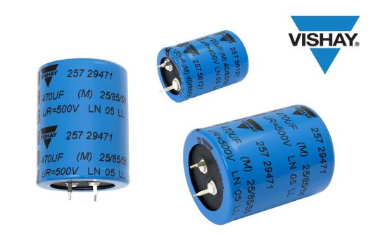Vishay最新推出新系列小型卡扣式鋁電解電容器...