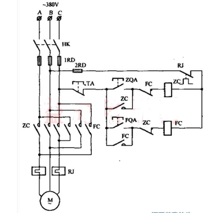 接触器联锁正反转控制线路