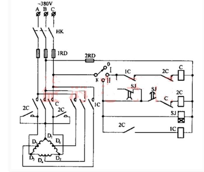 双速电动机自动加速控制线路