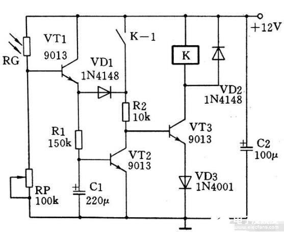 光敏单控双态开关电路详解