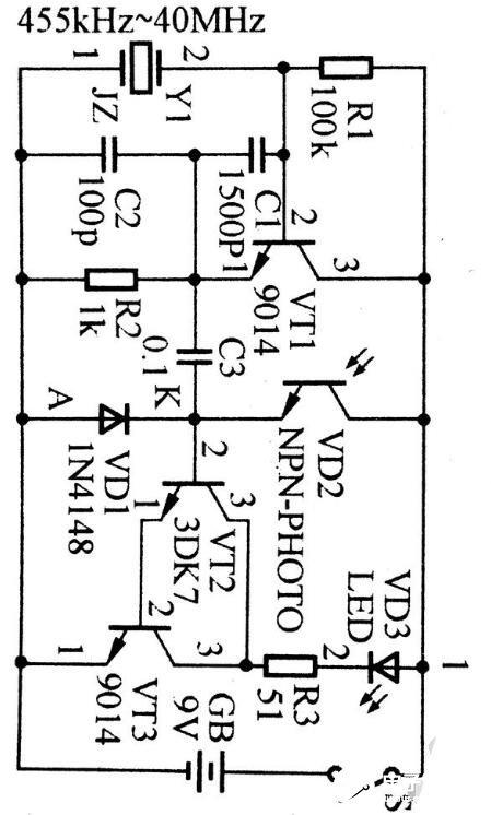简单的晶振检测电路图