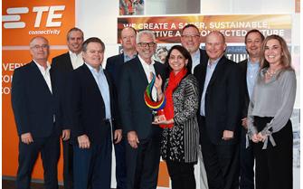 貿澤電子再次榮膺TE Connectivity 年度全球卓越服務分銷商獎