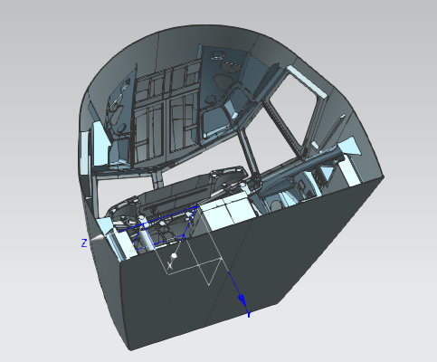 飞机头及操控室逆向设计 航空航天产品蓝光三维扫描...