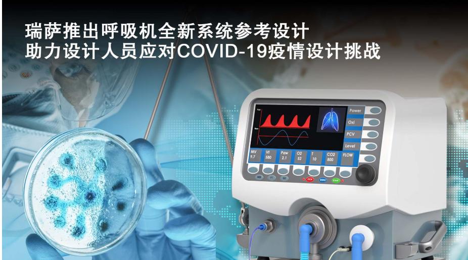 瑞萨电子推出开源呼吸机系统参考设计  抗击COV...