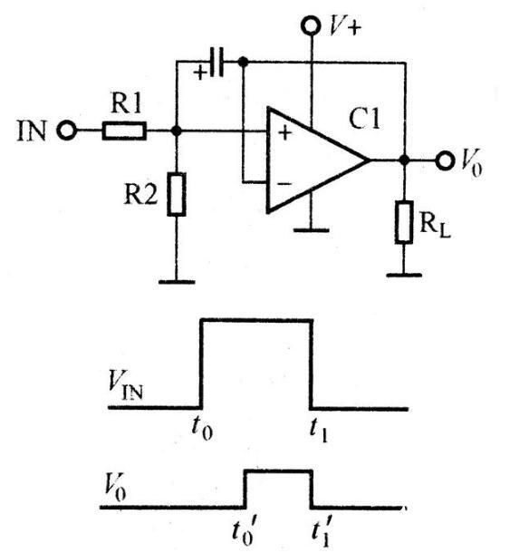 运放组成的脉冲压缩电路图
