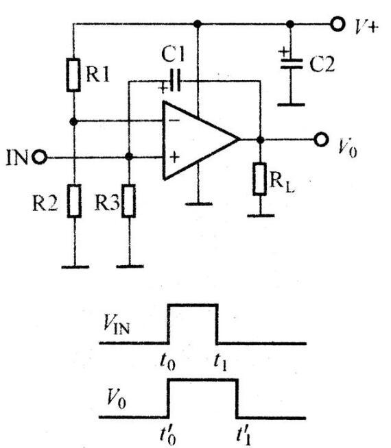 運放組成的脈沖展寬電路圖