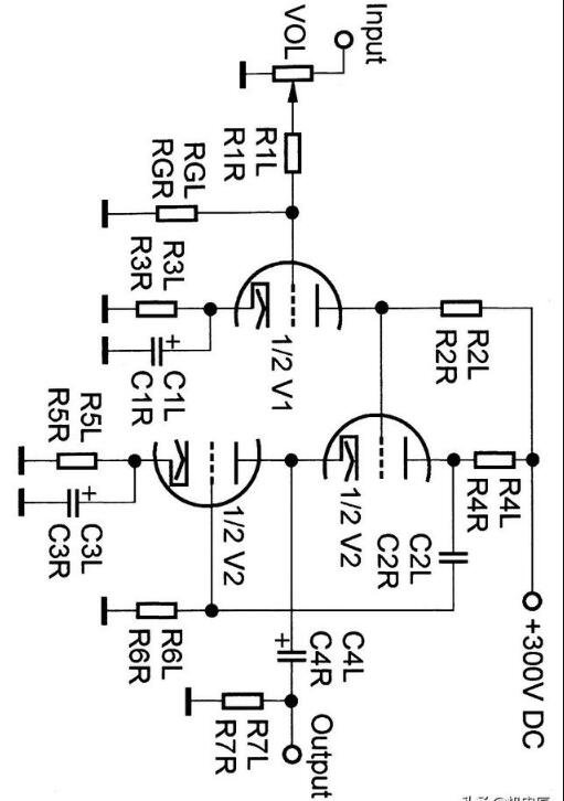 6N1電子管耳放的電源電路圖