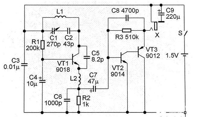 超再生FM接收機電路圖解析