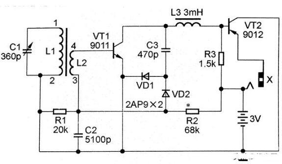经典来复式AM接收机电路图