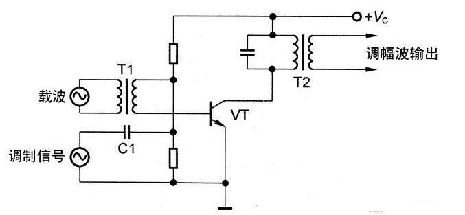 常用的三極管調幅電路