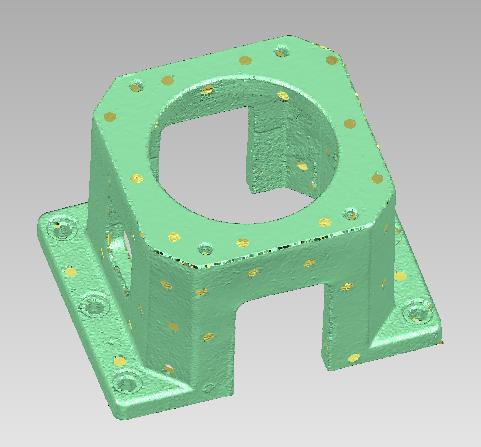 3D扫描仪工业机械液压缸套逆向设计三维激光扫描产...