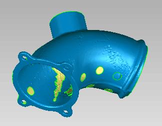 三维激光扫描仪扫描弯头逆向设计阀门弯管接头三维逆...