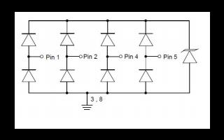 TEVA0R4V05D4X静电放电抑制器的数据手册免费下载