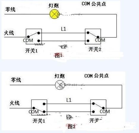 兩款雙聯雙控開關接線圖分享