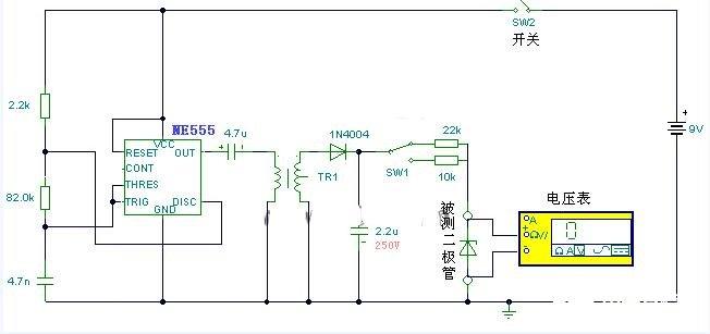 穩壓二極管穩壓值測量電路