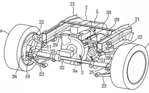 馬自達利用電容器驅動的輪轂電機專利