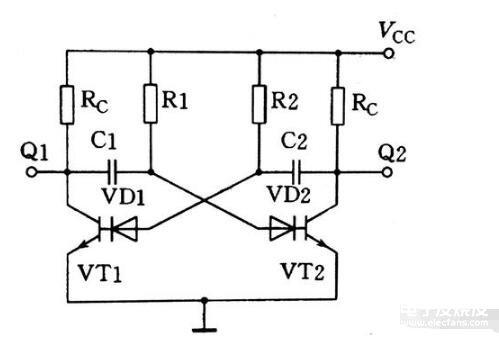 分立原件组成的多谐振荡器电路解析