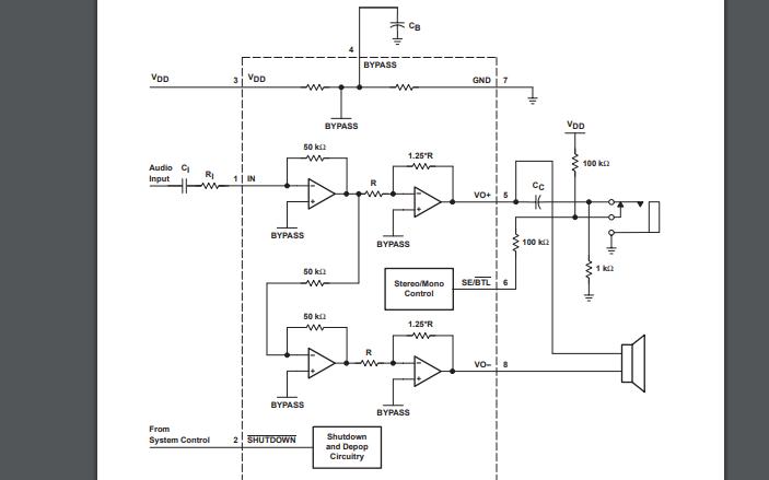 TPA2011音频功率缩小年夜器的数据手册收费下载