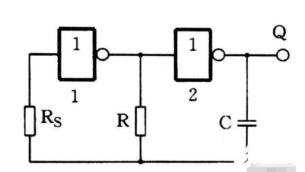 门电路组成的多谐振荡器电路