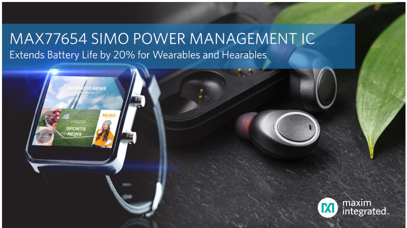 Maxim releases next-generation SIMO power management IC