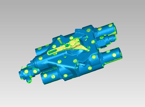 手持式三维扫描仪对电动活门的逆向设计机械结构件产...