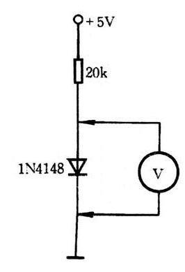 1N4148溫度感應實驗電路詳解