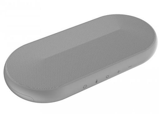 华为新型扬声器的外观设计专利,外形采用椭圆形设计