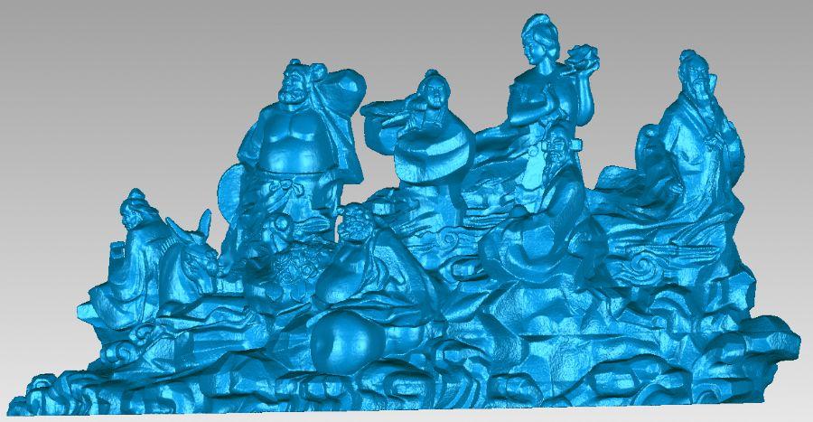 三维激光扫描技术用于雕塑群落数字化