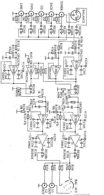 基于SA-93的前級放大器電路圖
