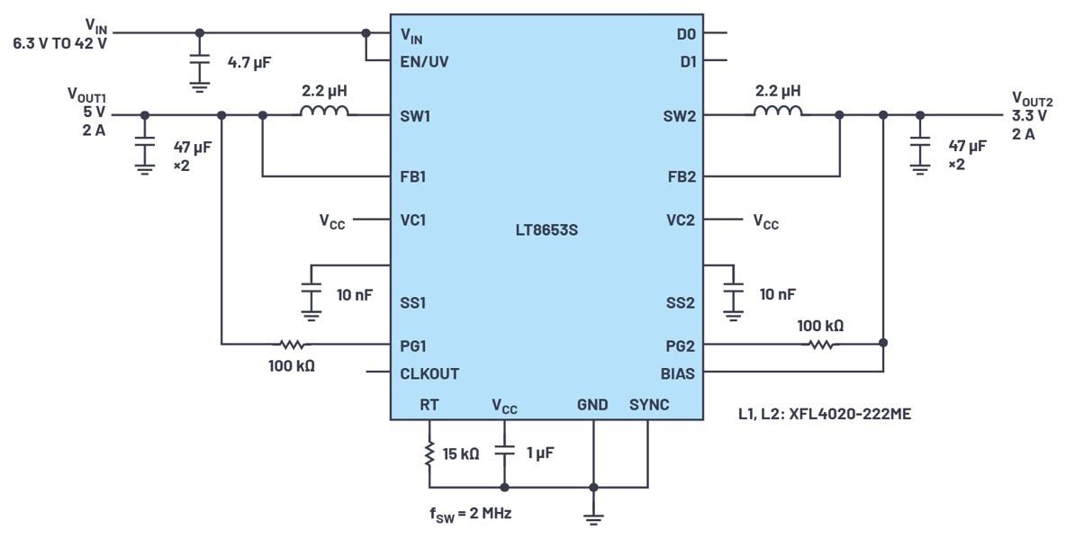 具有6.2 μA静态电流的双通道、42 V、2 ...